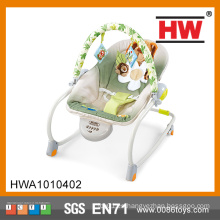 Cómoda música mecedora silla suave bebé