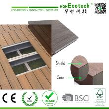 Decking compuesto plástico de madera sólida de alta coextrusión 2016 de los EEUU