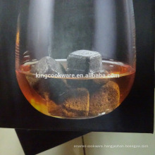 natural lava stone dice cube whisky stone