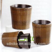 Vase -(16) home & garden furniture wicker/ PE rattan garden flower pot set