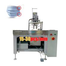 Ear loop semi auto machine price ultrasonic welding machine for mask, mask ear loop spot welding machine