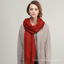 2013 brand new design hollow-out popular imported merino large size wool shawl