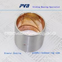 Concha de aço apoiada com um material de rolamento de revestimento de bronze de chumbo para aplicações lubrificadas a óleo