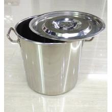 Cacerola de ebullición comercial barata del pote bajo de la sopa del acero inoxidable de la fábrica