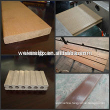 GARDEN DECKING AND ROAD WPC floor profile produced machinery