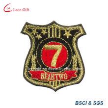 Logotipo de hilo de oro bordado parche insignia Embroideried