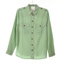 Tencel Garment Dye Ladies Long Shirts