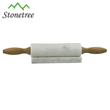 Natural stone marble rolling pins with stand