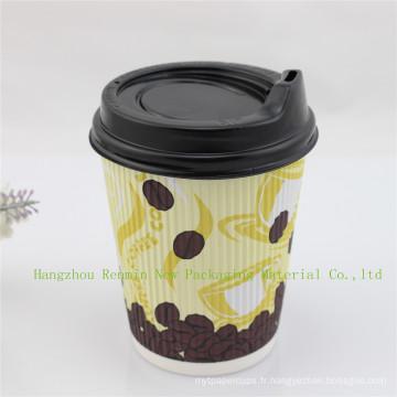 Tasse de papier moulé ondulé (2014 nouveaux styles)