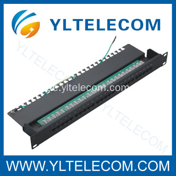 3-Stimme-Patch-Panel 25port mit Erde Linie 1U