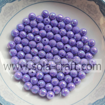 Opaque AB Multicolor Acrylic Round Beads for wedding pearl bracelet and necklace