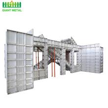 Réutilisez le système de coffrage concret de panneaux de mur en aluminium