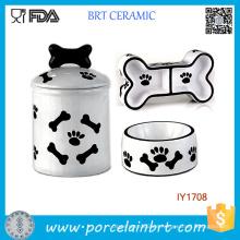 3PCS Vorratsglas-Nahrungsmittelwasserschüssel-Haustier-Zusätze Großverkauf China