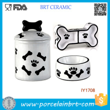 3PCS Storage Jar Food Water Bowl Pet Accessories Wholesale China