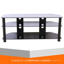 Mesa de TV de vidrio templado mesa de café con MDF de gestión de cables