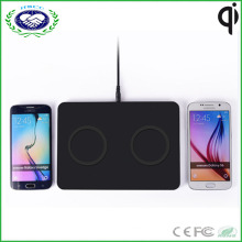 Two Coils Qi Wireless Charger for 2 Phone Charging One Time