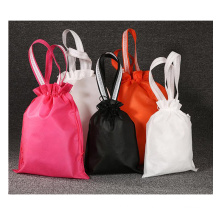 Custom dustproof  nonwoven drawstring pouch portable promotional hot sale shoe gift bag