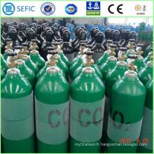 Cylindre de gaz de CO2 d'acier sans couture à haute pression de 40L (ISO9809-3)