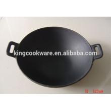 gusseiserner Wok mit vorgewürztem Kochgeschirr für die Küche