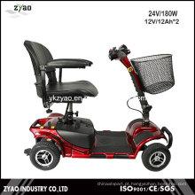 Scooter de mobilidade elétrica de quatro rodas de baixo peso