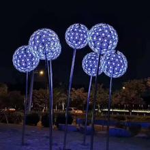 Waterproof 3D led dandelion flower motif light