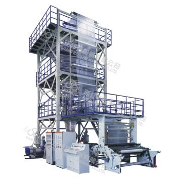 Máquina de sopro de filme de co-extrusão de três a cinco camadas