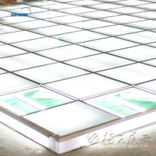 raised floor lighting glass floor system for trade show service