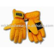2013 new design yellow ski gloves