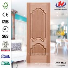 JHK-M02 Melhor Rased Textura Emossed Press Exterior Decorativo EV Sapele HDF Moldado Caro Painel De Porta