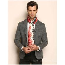 Corbata de seda pura del hombre de la tela cruzada d