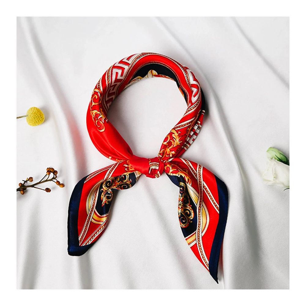 Silk Scarf with Printing Style