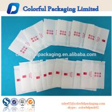Saco de empacotamento do mini chá branco simples da impressão com selo traseiro