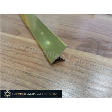 Aluminium Profiles T Shape Transition Tile Trim for Wall Decoration with Gold Color