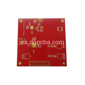 Placa de circuito PCB de 4layer Red Solder Mask Prototype