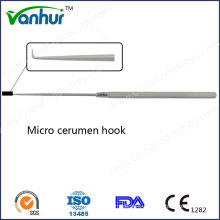 E. N. T Surgical Instruments Micro Cerumen Hook