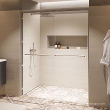 Seawin Chrome aluminum Accessories Aqua Bath Tempered Glass Sliding Shower Doors