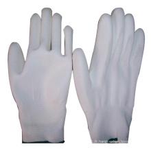 Gant PU blanc Polyester PP Palm Revêtu de Ce