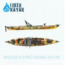 4.3m caiaques da pesca com motor e 2en1 assento & trole