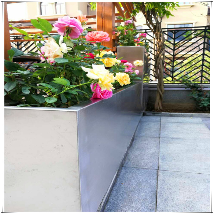 stainless steel flower planters