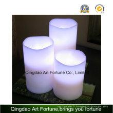 Bougie LED sans flamme sans flamme avec lumière blanche chaude