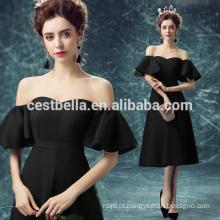 Chic Black Fashion Dress Sexy Black Vestidos de noite para mulheres Elegant Party Cocktail Black Dress
