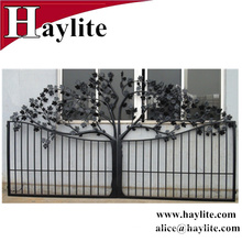 antique iron gate design with galvanized sheet