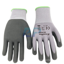 15G Nylon and Spandex Grip Ultimate Nitrile Foam Super Grip Glass Industrial Gloves