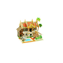 Wood Collectibles Toy for Global Houses-Thailand Resort Hotel
