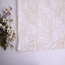 3D Milky Yarn Tassel Sequin Mesh Embroidery Fabric