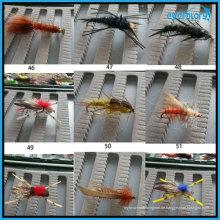 Alle Art von handgefertigten beliebten Fliegen für professionelle Fischer