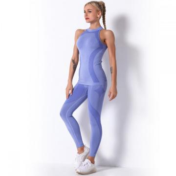 Gym Yoga Biker Short Sets för kvinnor