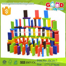 OEM factory domino blocks colored wooden domino set toys