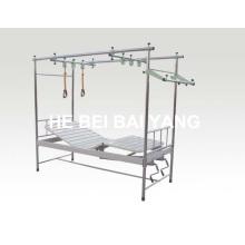 A-143 de aço inoxidável de dupla função Orthopedics tração Bed