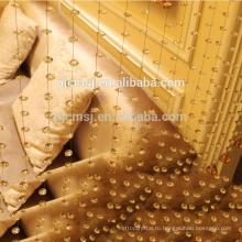 горячий продавать кристалл волны-образный бусины занавес янтаря для украшения дома экологичный